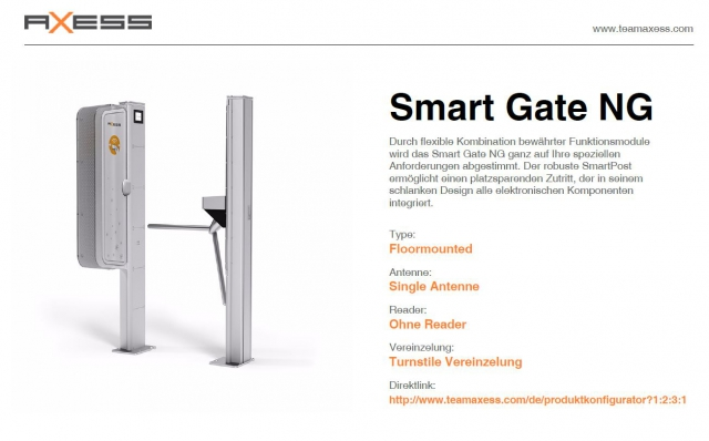 seilbahn.cc - Axess Smart Gate 500
